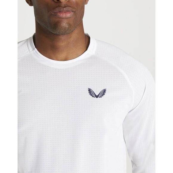 Castore Mens White Long Sleeve T Shirt main image