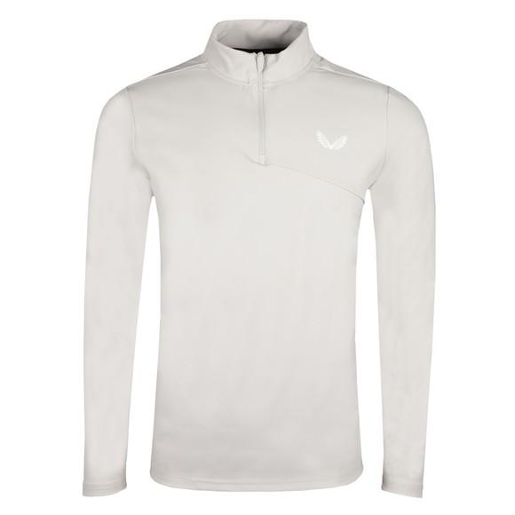 Castore Mens Grey Light 1/4 Zip Sweatshirt main image
