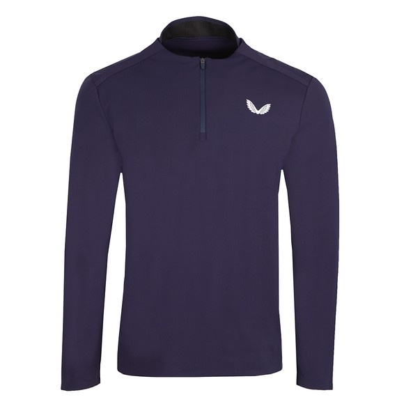 Castore Mens Blue Light 1/4 Zip Sweatshirt main image
