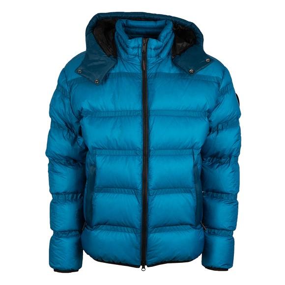 Moose Knuckles Mens Blue Glenfinnan Puffer Jacket