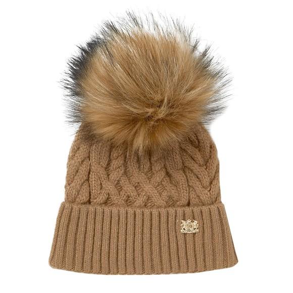 Holland Cooper Womens Brown Windsor Bobble Hat