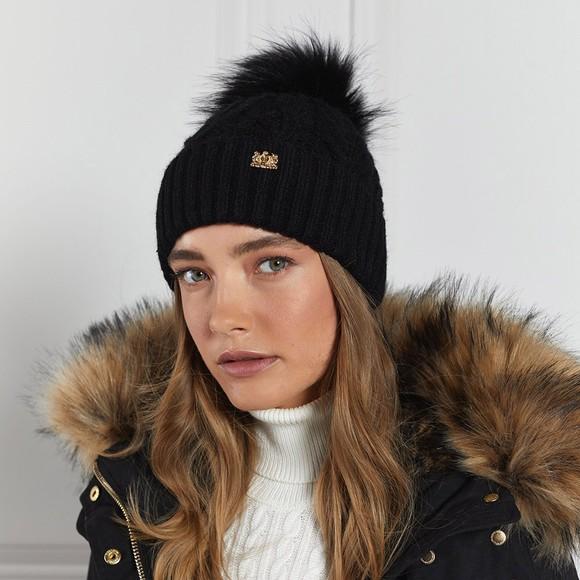 Holland Cooper Womens Black Windsor Bobble Hat main image