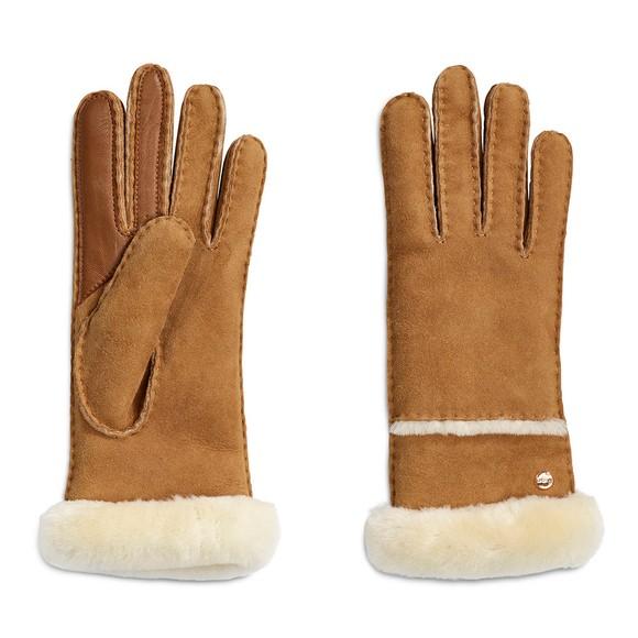 Ugg Womens Brown Seamed Tech Glove
