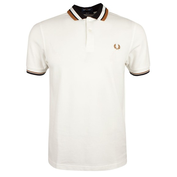 Fred Perry Mens Off-White Contrast Collar Polo Shirt