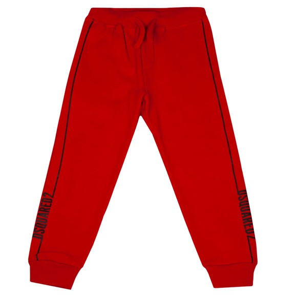 Dsquared2 Boys Red Pipe Logo Jogger