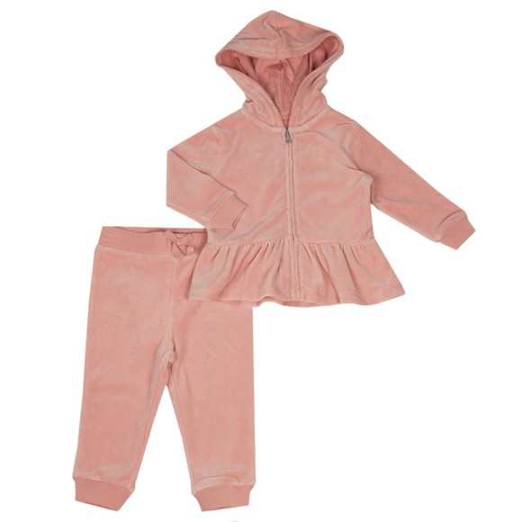 Polo Ralph Lauren Girls Pink Velour Tracksuit
