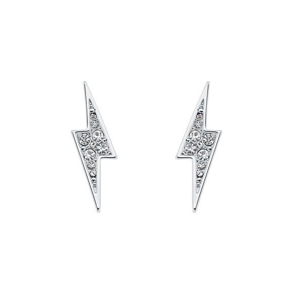 Ted Baker Womens Silver Taliahh Thunderbolt Stud Earring