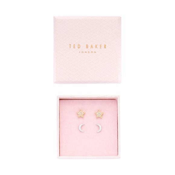 Ted Baker Womens Gold Moanny Star & Moon Earring Gift Set