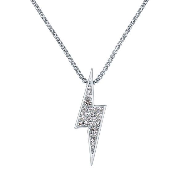 Ted Baker Womens Silver Taraah Thunderbolt Pendant