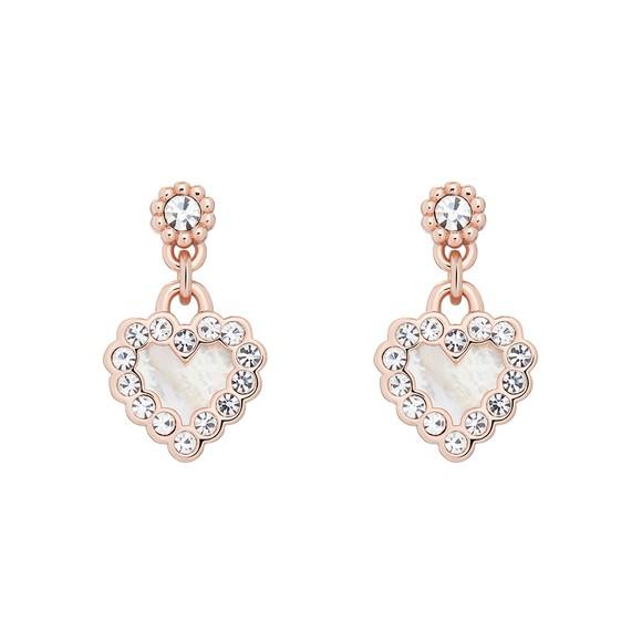 Ted Baker Womens Pink Pearlan Heart Drop Earring