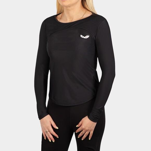 Castore Womens Black Long Sleeve T Shirt