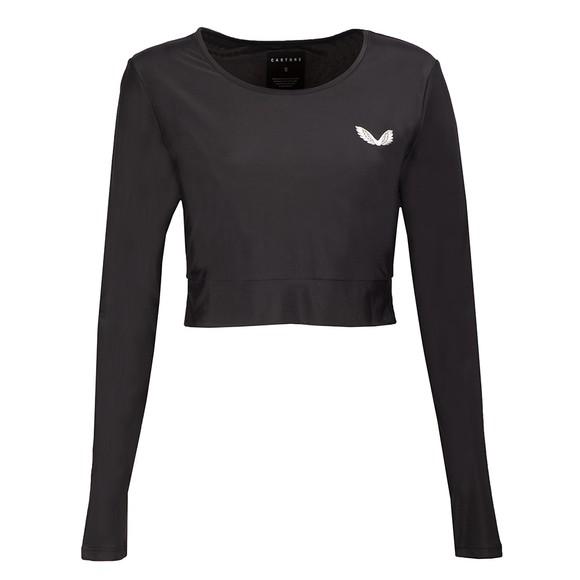 Castore Womens Black Long Sleeve Crop Top