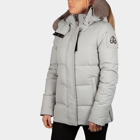 Moose Knuckles Womens White Astoria Jacket