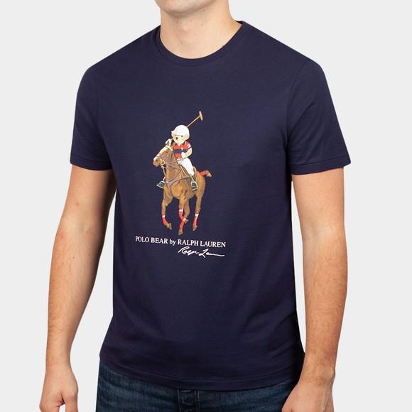 Polo Bear By Ralph Lauren Mens Blue Horse Rider Bear T Shirt