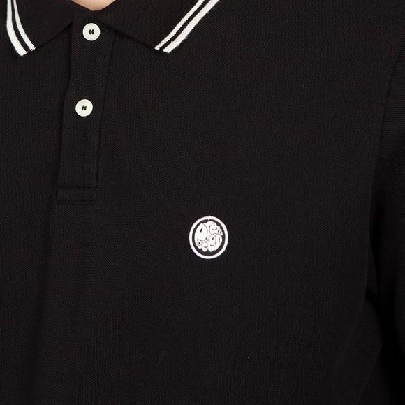 Pretty Green Mens Black Barton Tipped Polo Shirt main image