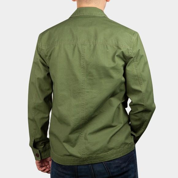 Pretty Green Mens Green Military Overshirt main image
