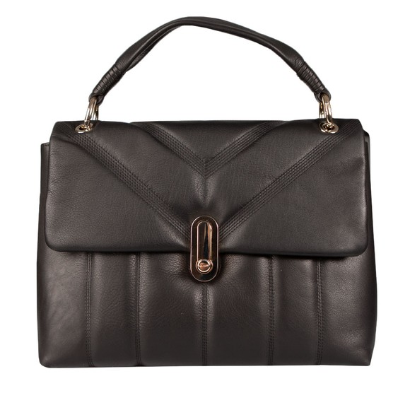 Ted Baker Womens Black AYAAH Leather Puffer Quilt Detail Shoulder Bag