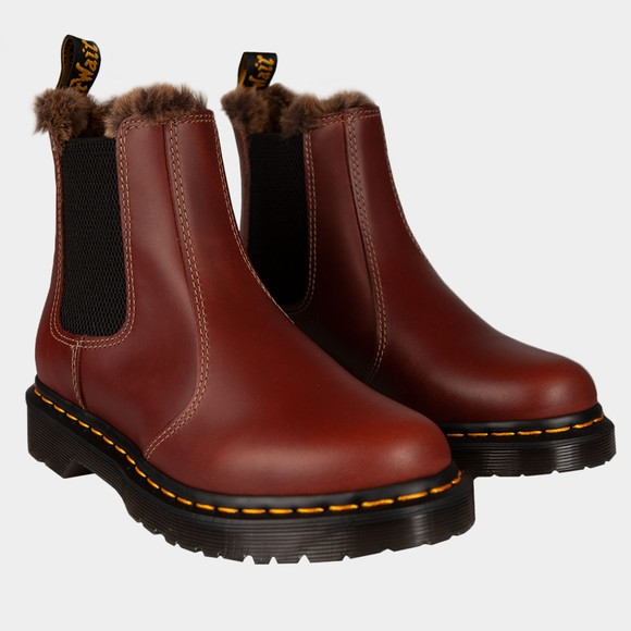 Dr. Martens Womens Brown Leonore Boot