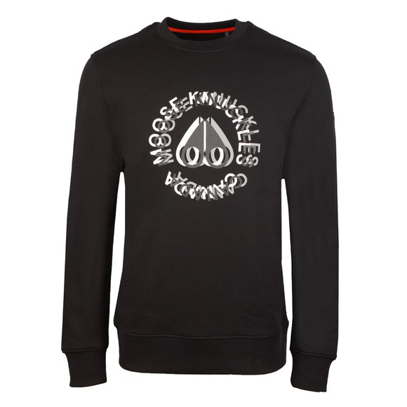 Moose Knuckles Mens Black Kenamu Sweatshirt