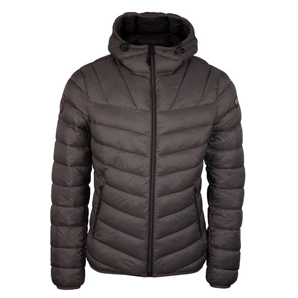 Napapijri Mens Grey Hooded Areons Jacket