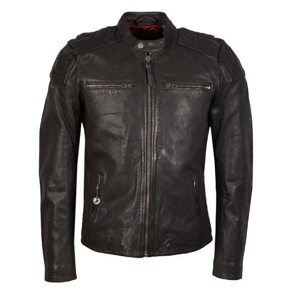 Superdry Mens Black Moto Racer Jacket