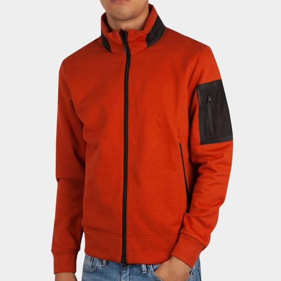 Esemplare Mens Brown Full Zip Organic Fleece Sweatshirt main image