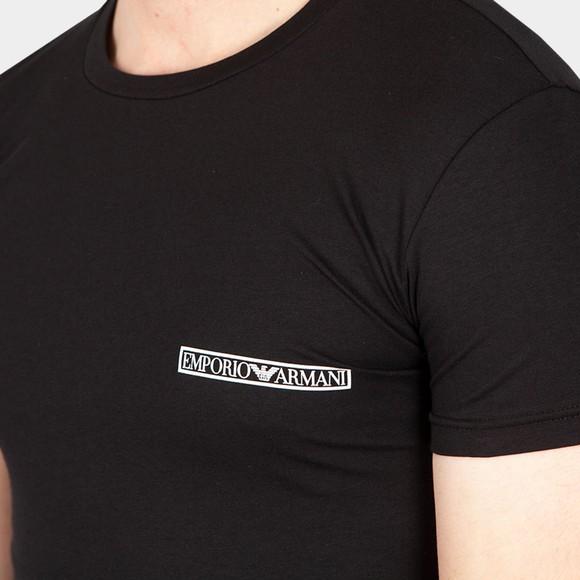 Emporio Armani Mens Black Block Logo Stretch Crew T Shirt main image