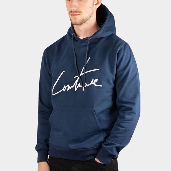 The Couture Club Mens Blue Essentials Signature Slim Hoodie