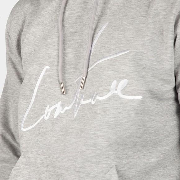 The Couture Club Mens Grey Essentials Signature Slim Hoodie main image