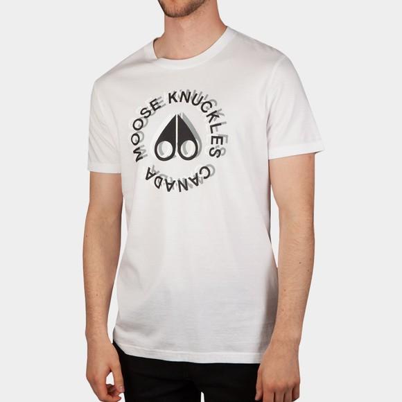 Moose Knuckles Mens White Kenemich T Shirt