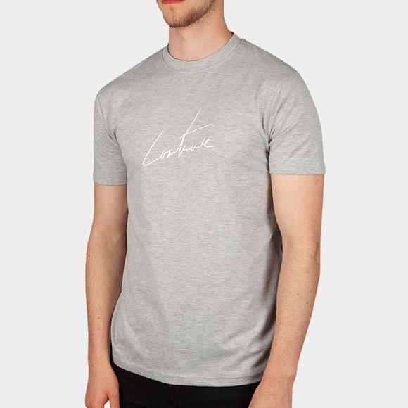 The Couture Club Mens Grey Essentials Signature Slim T-Shirt