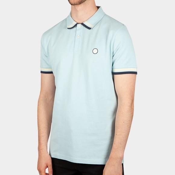 Pretty Green Mens Blue Banker Polo Shirt