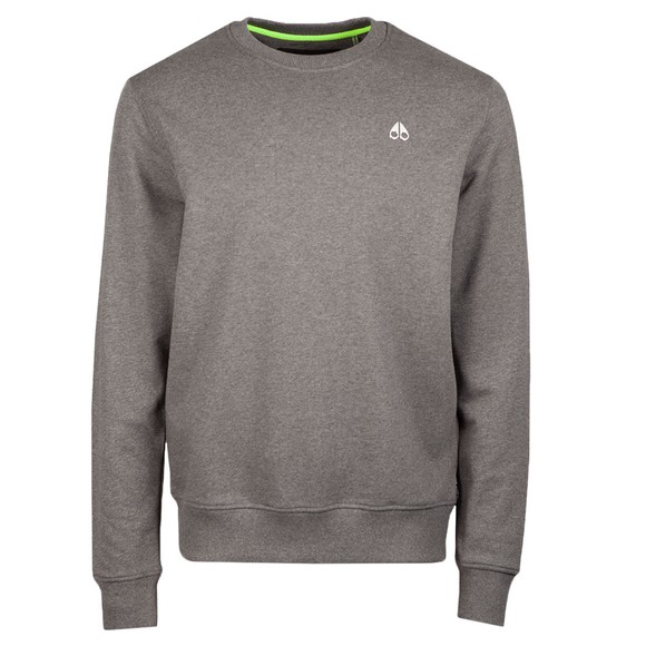 Moose Knuckles Mens Grey Le Land Crew Sweatshirt