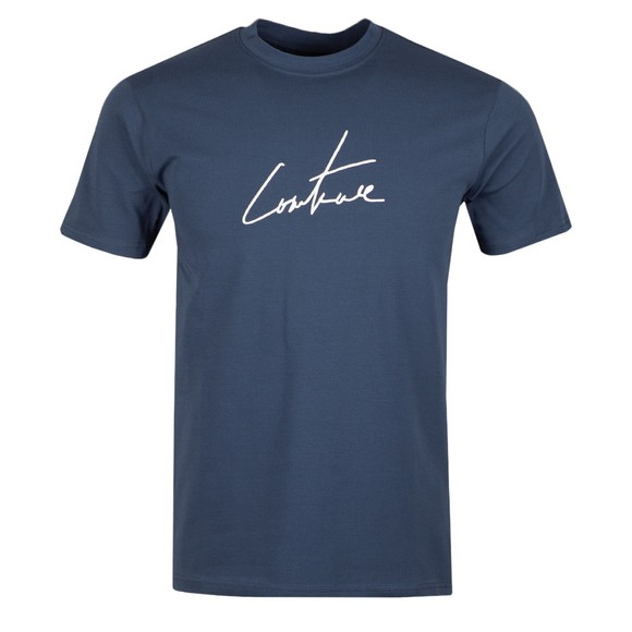 The Couture Club Mens Blue Essentials Signature Slim T-Shirt main image