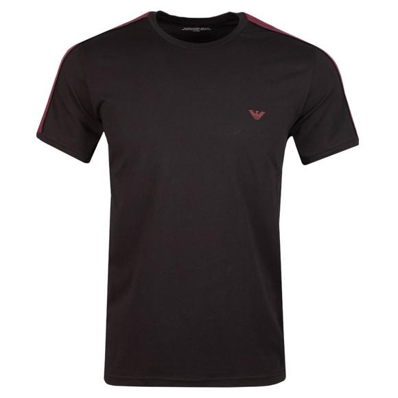 Emporio Armani Mens Black Tape Logo Stretch T Shirt