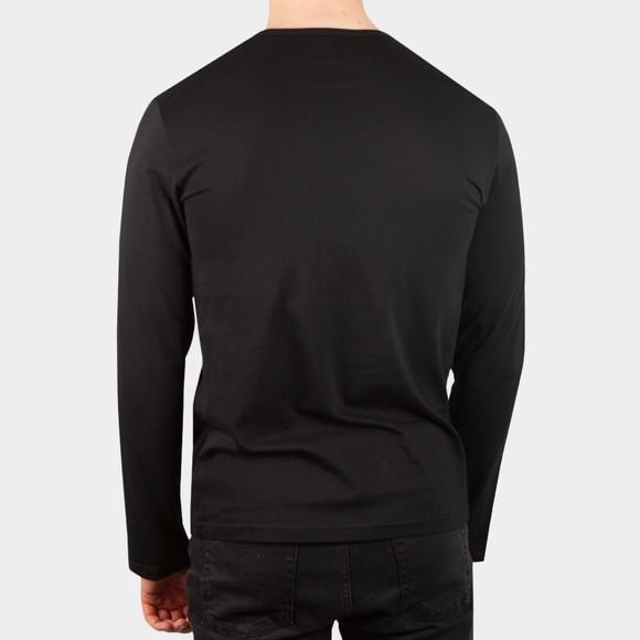 Emporio Armani Mens Black Small Logo Stretch Long Sleeve T Shirt main image
