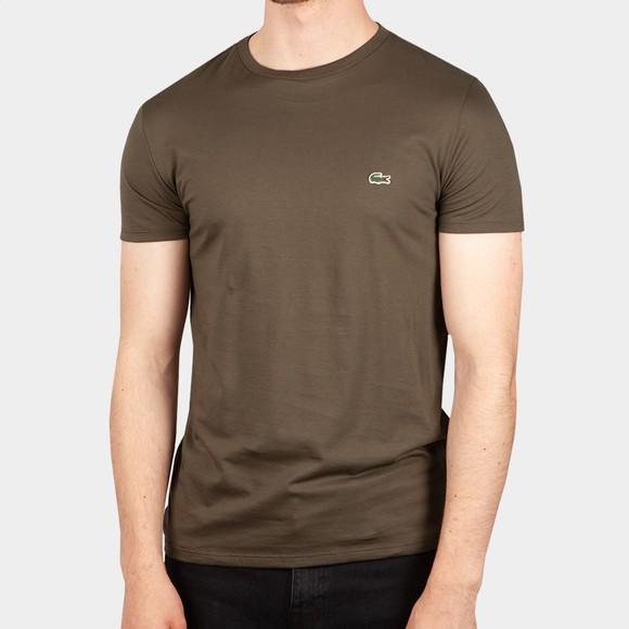 Lacoste Mens Green TH6709 Pima Cotton T-Shirt