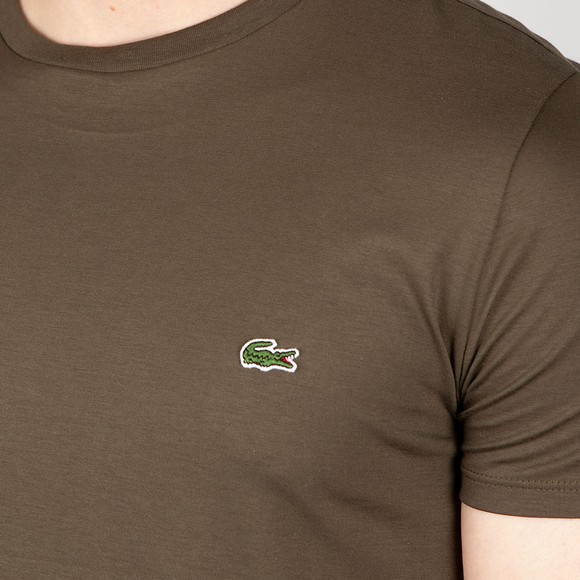 Lacoste Mens Green TH6709 Pima Cotton T-Shirt main image