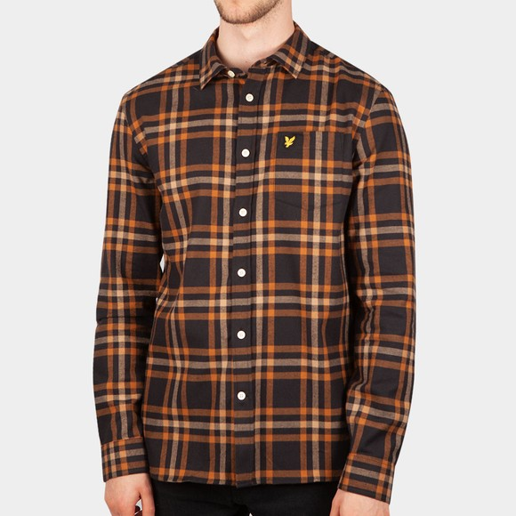 Lyle and Scott Mens Black Check Flannel Shirt
