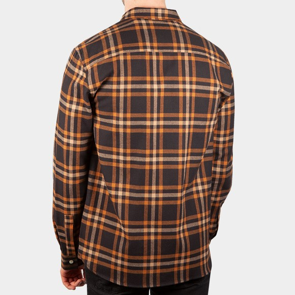 Lyle and Scott Mens Black Check Flannel Shirt  main image