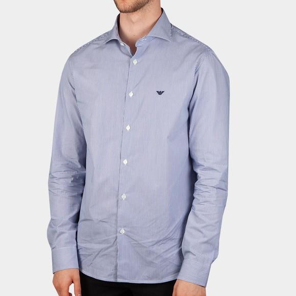 Emporio Armani Mens Blue Essential Stripe Shirt main image