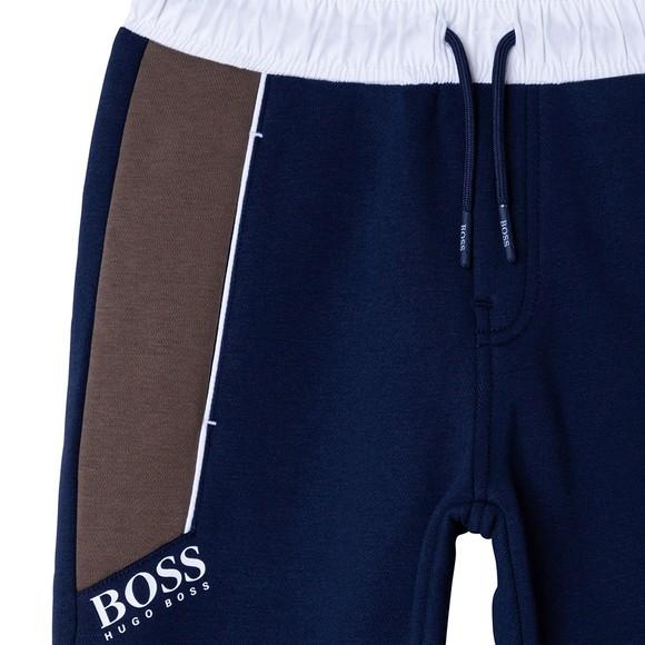 BOSS Boys Blue J24725 Panel Jogger