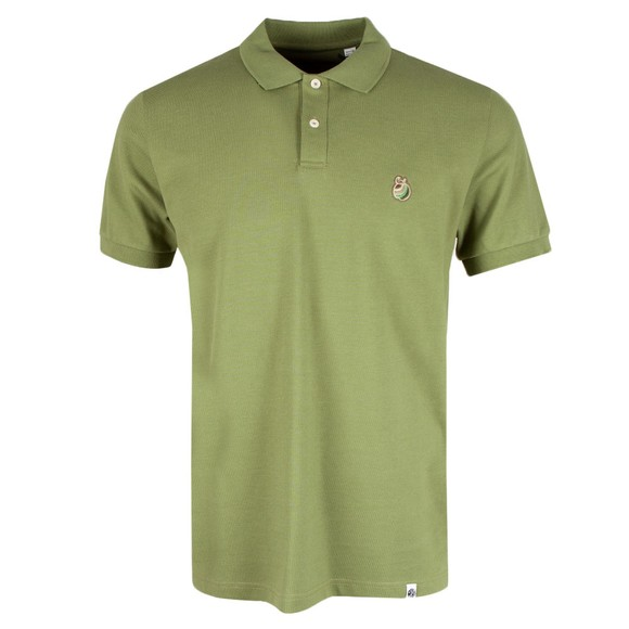 Pretty Green Mens Green Autumn Apple Embroidery Polo Shirt main image