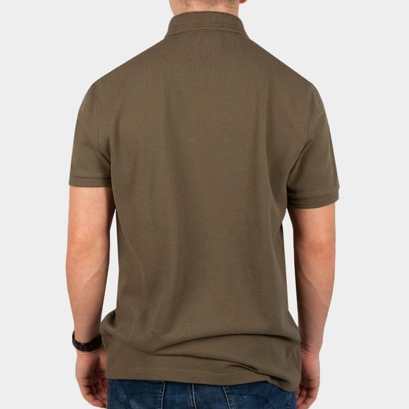 Pretty Green Mens Green Military Polo Shirt main image