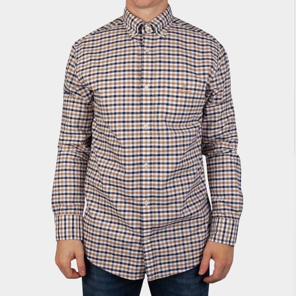 Gant Mens Brown 2 Colour Gingham Shirt