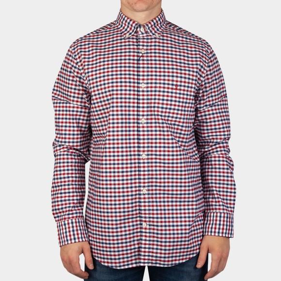 Gant Mens Red 2 Colour Gingham Shirt