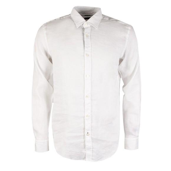 BOSS Mens White Formal Ronni Shirt