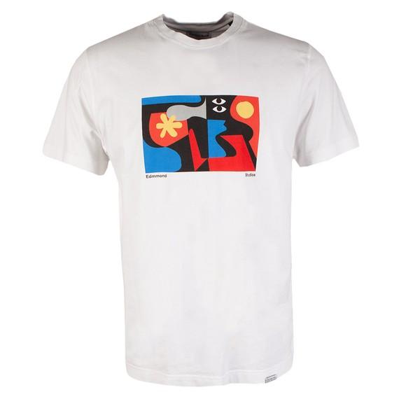 Edmmond Studios Mens White Brooks T Shirt