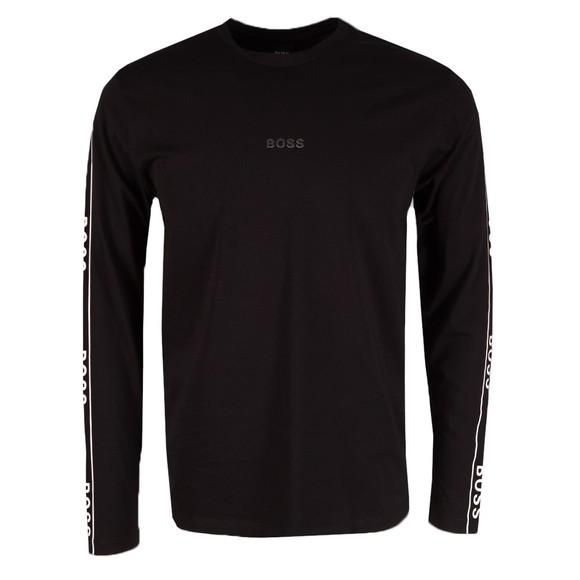 BOSS Mens Black Casual Twrapped T Shirt