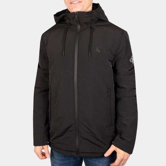Calvin Klein Jeans Mens Black Hooded New Harrington Jacket